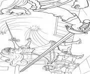 barbie musketeers 14 coloring pages