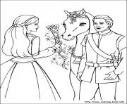 Printable barbie magic pegasus 15 coloring pages