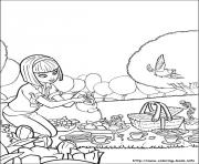 Printable barbie thumbelina 13 coloring pages