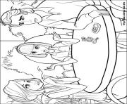 Print barbie thumbelina 14 coloring pages
