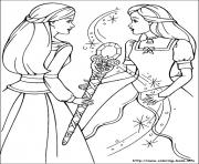 Printable barbie magic pegasus 20 coloring pages