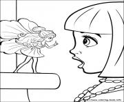 Printable barbie thumbelina 24 coloring pages