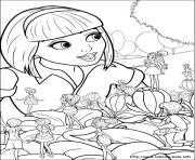 Print barbie thumbelina 30 coloring pages