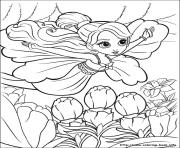 Printable barbie thumbelina 03 coloring pages