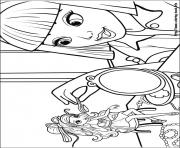 Print barbie thumbelina 07 coloring pages