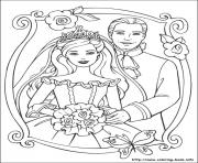 Printable barbie princess 24 coloring pages