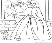 Print barbie princess 12 coloring pages