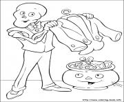halloween 123 coloring pages