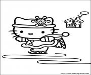 Print hellokitty christmas 05 coloring pages