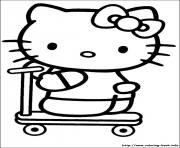Print hello kitty 12 coloring pages