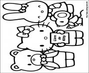 hello kitty 14 coloring pages