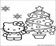 Print hellokitty christmas 06 coloring pages