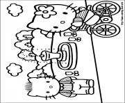 Printable hello kitty 30 coloring pages