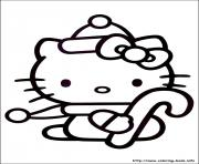 Print hellokitty christmas 02 coloring pages