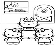 Print hello kitty 18 coloring pages