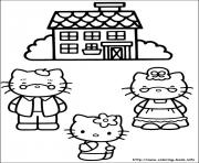 Print hello kitty 25 coloring pages