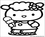 Printable hello kitty 45 coloring pages
