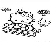 Print hellokitty christmas 03 coloring pages