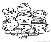 Print hellokitty christmas 04 coloring pages