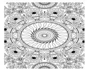 free mandala to color vegetation