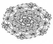 Printable mandala difficult 5  coloring pages