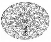 Printable mandala flowers 3  coloring pages