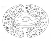 Printable free mandala to color planet stars  coloring pages