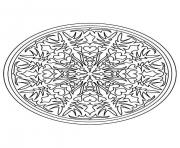 Printable mandala difficult 9  coloring pages