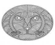 free mandala difficult adult to print lion