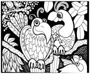 Printable adult africa birds coloring pages