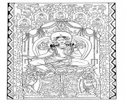 Printable adult silk tapestry green tara early 1200 central asia coloring pages