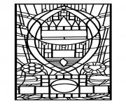Printable adult stained glass de l apparition bleue edegem coloring pages