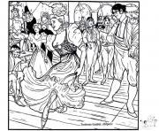 Printable adult toulouse lautrec chilperic coloring pages