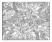Printable adult pretty patterns plant coloring pages