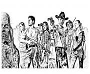 Printable adult the walking dead coloring pages