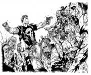adult walking dead by mattjamescomicarts coloring pages