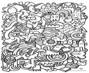 adult difficult art coloring pages