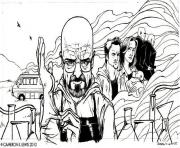 Printable adult breaking bad dessin coloring pages