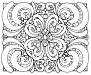 Printable adult patterns coloring pages