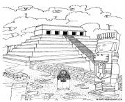 Printable adult temple aztec coloring pages