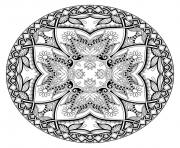 Printable adult mandala by karakotsya 2 coloring pages