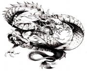 Printable adult dragon chine coloring pages