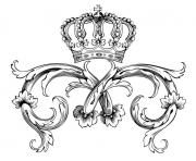 Printable adult symbol royal crown by dl1on coloring pages