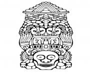 Printable adult totem inspiration inca mayan aztec 3 coloring pages