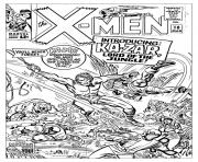 Printable adult comics xmen 1965 unreleased cover coloring pages