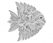 Printable adult zentangle fish by artnataliia coloring pages