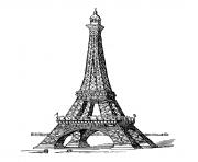 Printable adult eiffel tower coloring pages