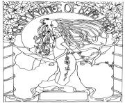 Printable adult dessin inspiration art nouveau coloring pages