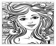 Printable adult mermaid by natuskadpi coloring pages