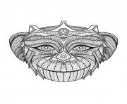 Printable adult monkey head coloring pages